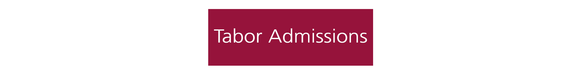 Tabor Admissions